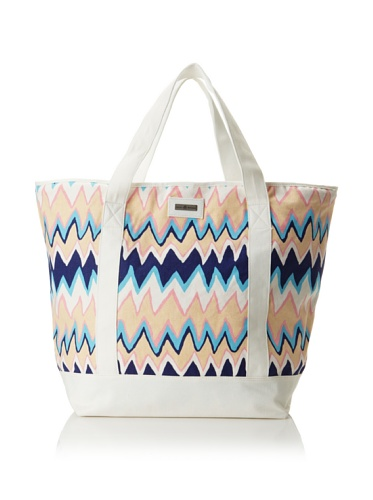 Julie Brown Medium Tote Bag with Cooler Lining (Blue Charlie)