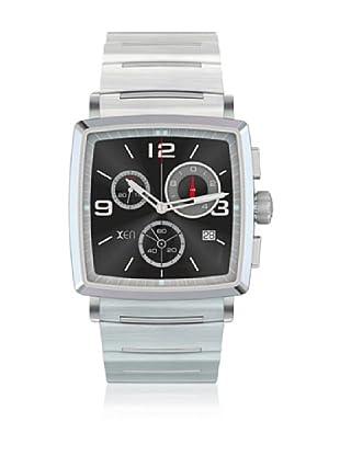 Xen Reloj Caballero XQ0061 Plateado/Negro 39 x 39 mm