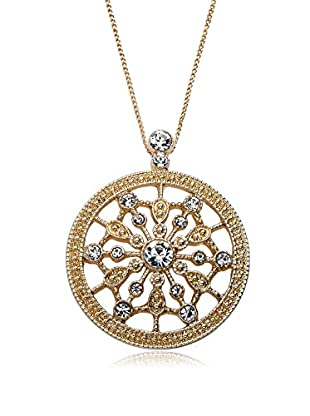 Riccova Country Chic Crystal Starburst Medallion Pendant Necklace, Gold