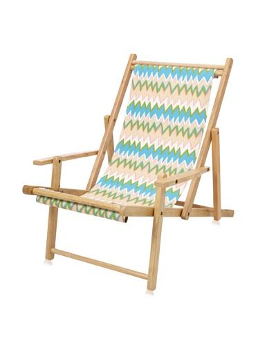 Julie Brown Wooden Reversible Adult Chair (Pink Charlie/Polka Dot)