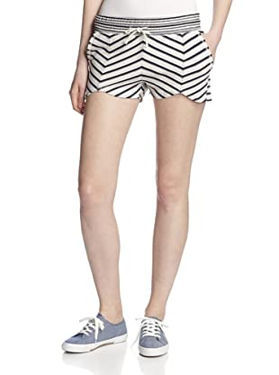 LAmade Women's Striped French Terry Shorts (Navy/Cream)