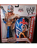 Mattel WWE Wrestling Exclusive Superstar MatchUps Action Figure Mask Rey Mysterio Blue/Black Pants M