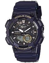 Casio Youth - Combination Analog-Digital Black Dial Men's Watch - AEQ-110W-2AVDF(AD208)