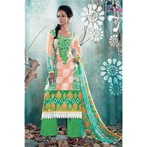 Freshen Green Pakistani Style Suit