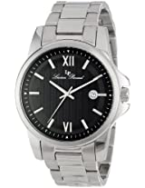 Lucien Piccard Men's 10048-11 Breithorn Black Textured Dial Stainless Steel Watch