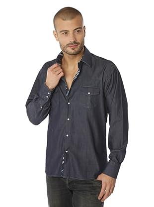 Gazoil Camisa Denim (Azul Oscuro)