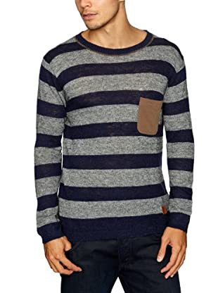 Cottonfield Pullover (Blau/Grau)