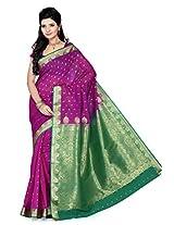 ISHIN Art Silk Kanjivaram Multicolour Saree