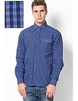 Blue Full Sleeve Small Checks Shirt