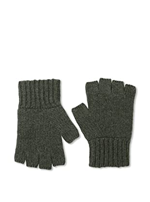Sofia Cashmere Men's Fingerless Gloves (Green)
