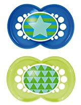 MAM Trends Silicone Orthodontic Pacifier, Boy, 6+ Months, 2-Count