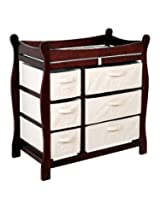 Badger Basket Baby Changing Table with Six Baskets Cherry