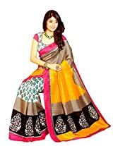 Roop Kashish Multi Art Bhagalpur Silk Saree With Unstiched Blouse 10920 (Rkvi10920)