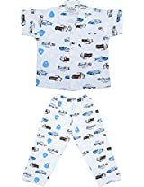 Little Stars Boys' Top and Pyjama Set (Nightsuit_Police_1-2 years, Blue, 1-2 years)