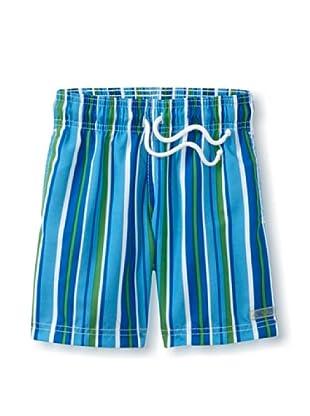 Azul Swimwear Boy's Down the Lane Boardshorts (Blue)