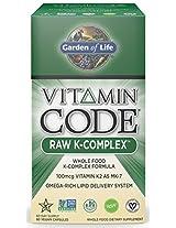 Garden of Life Vitamin Code Raw K-Complex, 60 Capsules