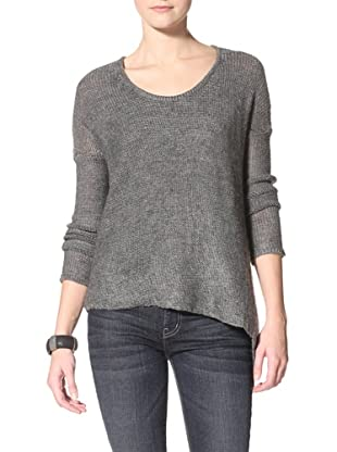 Acrobat Women's Asymetrical Pullover Sweater (Flannel)