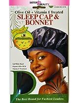 Donna Olive Oil + Vitamin E Treated Sleep Cap & Bonnet #22004 Black