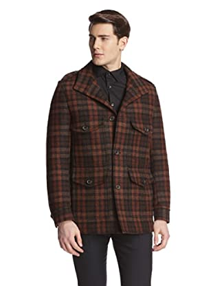 Tom Ford Men's Checked Coat (Brown)