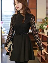OnlyUrs Elagence Slim Lace Joint Women Dress