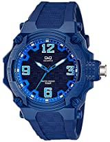 Q&Q Analog Blue Dial Unisex Watches - VR56J002Y