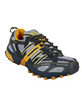 Nicholas Grey and Yellow Men Sports Shoes - 835