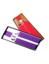 Sunshopping men's red and purple seuspender(WSDWSDSC00024) (red and purple)