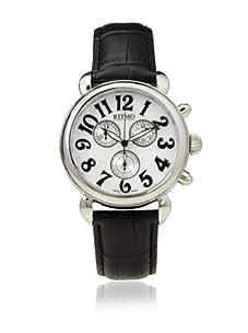 Ritmo Mundo Men's Luna Round Black/White Stainless Steel Watch