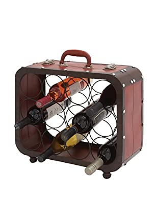 Metal Suitcase Wine Holder