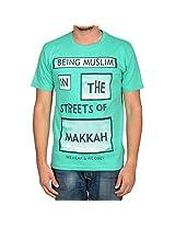 Being Muslim Green Cotton T-shirt for Men