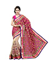 Livaaz Synthetic Saree with Blouse Piece (Sf100195 _Multi-Coloured)