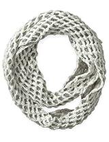 Dearfoams Women's 2-Tone Diamond Knit Infinity Scarf, Ivory, One Size