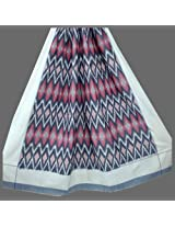 Double Cot Fine Cotton Bed Sheet - Ikat Weaving