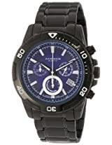 Akribos XXIV Men's AK527BK Ultimate Stainless Steel Swiss Quartz Chronograph Divers Watch