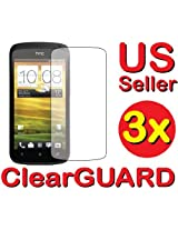 GUARMOR 3x HTC ONE S T-Mobile Premium Invisible Clear LCD Screen Protector Cover Guard Shield Protective Film Kit 3 pieces
