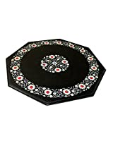 "24"" Octagone Handcrafted Indian Marble Pietre Dure Pietra Dura Table Top (without stand)"