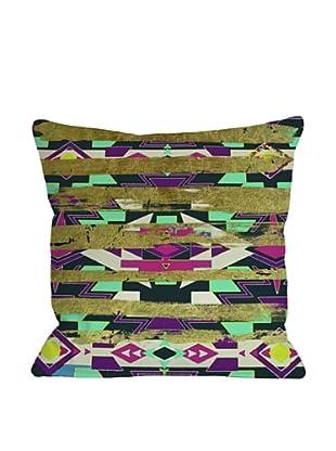 Oliver Gal by One Bella Casa Navajo Neon Square Pillow, Neon Multi