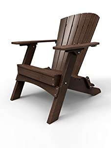 Malibu Outdoor Furniture Hyannis Folding Adirondack Chair (Dark Brown)