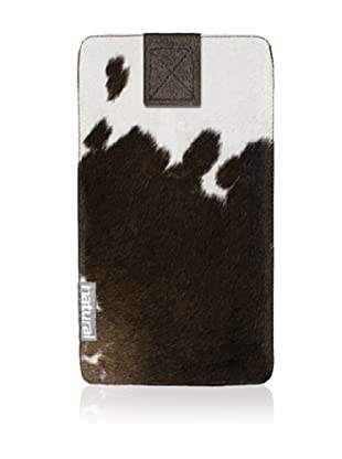 Natural iPhone Cowhide Case (Chocolate/White)