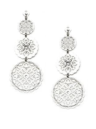 LK Designs Three Circle Earrings, Silver