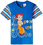 Chhota Bheem Boy's Cotton T-Shirt (8904157846189_GGAPP-CB278C_5-6 yrs_Navy Blue)
