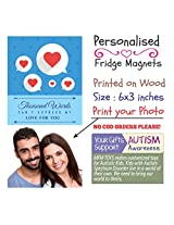 MFM TOYS 'A Thousand Words Can't...' 6x3 inch Photo Fridge Magnet - Valentines Gift Special FREE GIFT WRAP & CUSTOM LABEL!