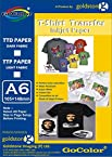 Gocolor TShirt Transfer Inkjet Paper Light Fabrics A6 Size ( 20 Sheet ) Make custom Tshirts at home! As simple as 1-2-3