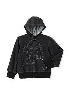 Kapital K Boy's French Terry Printed Jacket (Black Denim)