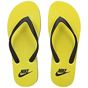 Nike Aquaswift Black & Yellow Thong Flip-Flops (UK 8)