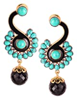 Varaagk Brass Dangle & Drop Earings For Women Black