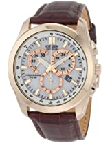 Citizen Eco-Drive Chronograph White Dial Men's Watch - AT1183-07A