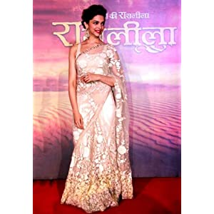 Ramleela Star Deepika Padukone In Cream Saree