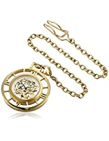 Stuhrling Original 713.02 Special Reserve Montres de Poche Ancestor Mechanical Skeleton Gold Tone Pocket Watch