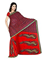 Anand Sarees Faux Georgette Synthetic Print Saree (JRD1011_2_Multi)